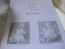 Mum's Doll Clothes Knit Pattern 1947 boy & girl + 3 free patterns from1920,22,66