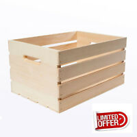 """Wooden Box 18"""" Large Wood Crate Rustic Wood Vintage Storage Box Crates & Pallets"""