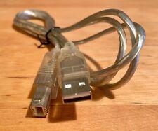 USB Kabel Druckerkabel Verbindung A-Stecker - B-Stecker, silber
