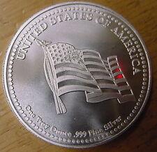 American Flag & Eagle 1 Troy oz Silver Coin