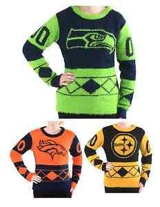 NFL Football Team Logo Womens Eyelash Ugly Sweater - Pick Your Team!