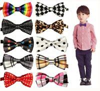 Baby Boy Kid Child Pre Tied Bow Tie Wedding Tuxedo Bowties Necktie Multicolor