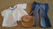 """American Girl 18"""" Retired Doll Julie's Meet Outfit Jeans Blouse, pants & purse"""
