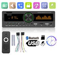 1 DIN Car Stereo MP3 Player Bluetooth TF USB AUX FM Radio Receiver Head Unit