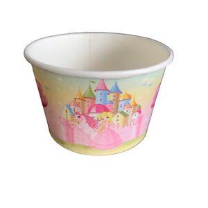 Princess Ice Cream Paper Cups, Dessert Container, Tubs, Ice Cream Tubs,