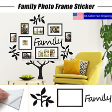 Family Tree Photo Frame Picture Collage Sticker Wall Mount Xmas Party