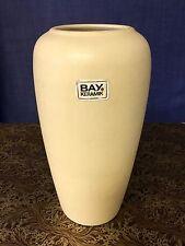 Bay Germany Vase 60er 70er Keramik Art Design Deco Nostalgie Beige - Gelb - Nude