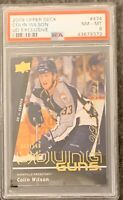 2009 2010 UPPER DECK Colin Wilson YOUNG GUNS EXCLUSIVES RC ROOKIE PSA 8 #/100