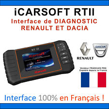 Valise Diagnostique RENAULT & DACIA - iCARSOFT RTII - CLIP - Compatible CAN OBD