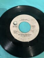 """ELTON JOHN - WHO WEARS THESE SHOES / LONELY BOY - 7"""" VINYL 45 RPM"""