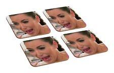 Kim Kardashian Crying 4 Piece Wooden Coaster Set