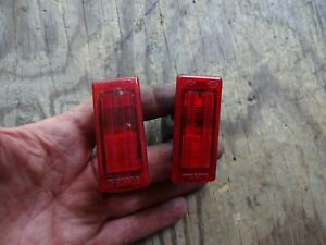 Volvo 850 850R V90 S90 940 960 Front Door Safety Lamp Lens Red Light L+R  pair