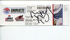 Ryan Blaney NASCAR Driver Signed Autograph Charlotte Hisense 300 Winner Ticket