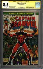 * Captain MARVEL #32 CGC 9.2 Signed Jim Starlin! THANOS App!  (1330688003) *