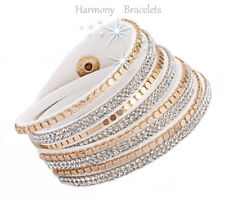 White Swarovski Elements Wrap Glitz Bracelet by Harmony Bracelets