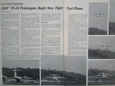 11/1976 ARTICLE 2 PAGES USAF BOEING YC-14 PROTOTYPES BEGIN NEW FLIGHT TEST PHASE
