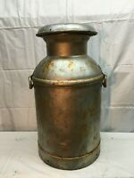 VINTAGE 10  GALLON STEEL  MILK CAN  FARM FRESH 1930s 40s