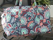 VERA BRADLEY LARGE DUFFEL in NOMADIC FLORAL TRAVEL BAG OVERNIGHT TOTE $85