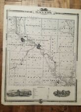 NICE ANTIQUE MAP - BLACK HAWK/BUTLER COUNTY IOWA - Andreas Atlas Co. 1875