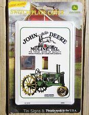 John Deere Light Switch PLATE COVER antique vintage tractor garage kitchen decor