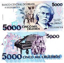 Bresil BRAZIL Billet 5000 CRUZEIROS 1992 P232 NEUF UNC