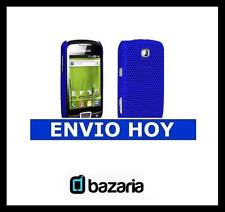 FUNDA CARCASA SAMSUNG GALAXY MINI S5570 S5570i COLOR AZUL BRILLANTE CON AGUJEROS