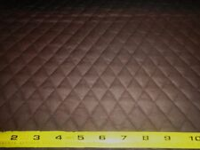 """Brown QUILTED FABRIC Double Sided 1"""" Diamond Pattern BTY"""