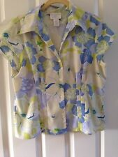 WORTHINGTON Stretch  BLOUSE~Button Down Front Petite Large