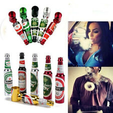 Beer Bottle Pipe Smoking Tobacco Herb Portable Metal Aluminum Tobacco Pipe
