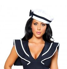 Sailor Navy Hat w/ Blue Bow Armed Forces Military Costume Cosplay New H105