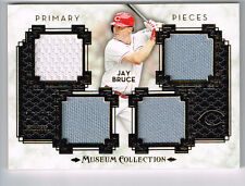 JAY BRUCE 2014 TOPPS MUSEUM 4 PIECE GAME USED JERSEY PATCH # 14/25 REDS