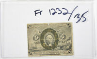 FR 1232 Fractional Currency 2nd Series Washington 5 Cents 5c
