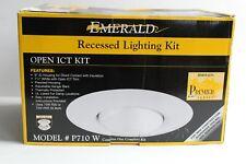 NEW EMERALD RECCESSED LIGHTING 75-100 WATT WHITE RING BLACK BAFFLE