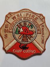 U.S. MARINES OPERATION irakien Freedom Camp CUERVO Fire Rescue écusson patch