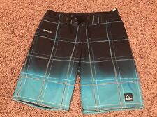 3h2 QUIKSILVER Mens 32 Electric Space Navy Teal Board Shorts Swim Trunk Surf