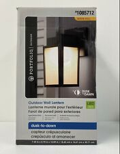 Portfolio LED Outdoor Wall Lantern Light12.9-in Aged Bronze Finish 1085712