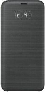 Samsung Galaxy S9 - Original - LED Flip Wallet Case Cover Black Colour