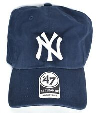 7eaff6f013a NEW YORK NY YANKEES 47 Brand Clean Up Baseball Hat Cap Adjustable Navy MLB