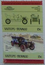 1905 WHITE MODEL E STEAM Car Stamps (Leaders of the World / Auto 100)
