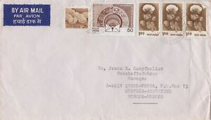 IN35) NICE INDIA COVER TO AUSTRIA - FLOWERS; CHICKS; POST OFFICE SAVINGS BANK
