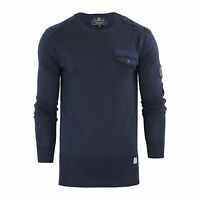 Mens Jumper Crosshatch Barrowell Crew Neck Knitted Sweater