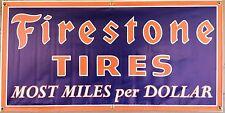 FIRESTONE TIRES SIGN GAS STATION OLD SCHOOL REMAKE BANNER GARAGE ART 2 X 4