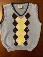 Gymboree Sweater Vest Size 2T Argyle Blue