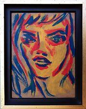 Felix Samuel Pfefferkorn *1945: Face  24x18 cm Porträt einer jungen Frau 1978