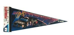 Vintage NASCAR Racing #7 Geoff Bodine Felt Pennant Exide Batteries Full Size