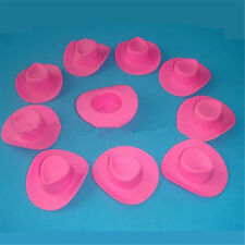 83acfbcc7825 10pcs Plastic Mini Cute Western Cowgirl Cowboy Hat Miniature For Doll Pink  Party