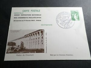 France Whole Postal 2154-CP1, Seal Railway Workers Philatelists 1982, Viaduct