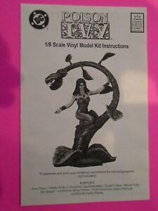 1998 DC COMICS BATMAN POISON IVY VINYL MODEL KIT 1:8 SCALE WITHOUT BOX HTF