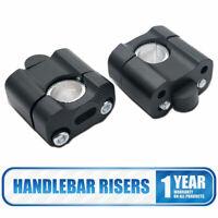 2x 22mm Motorcycle Handlebar Risers Aluminium Alloy Handle Bars Universal New