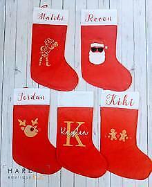 Christmas Santa Stocking (personalised, custom, customised, kids, baby, unique)
